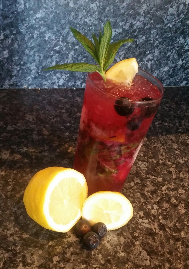 Blueberry and Lemon mojito recipe