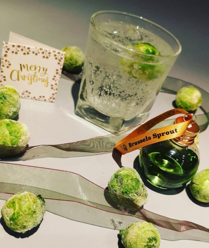 Festive flavoured gin baubles brussel sprout gin