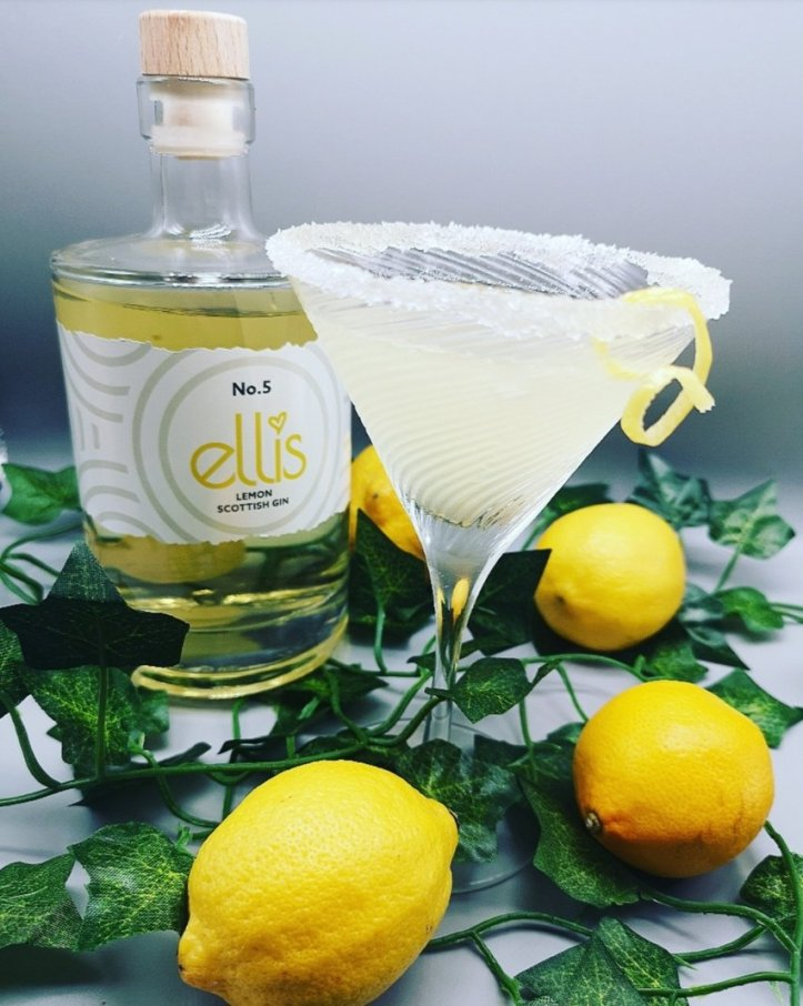 Ellis lenon gin with a lemon drop martini