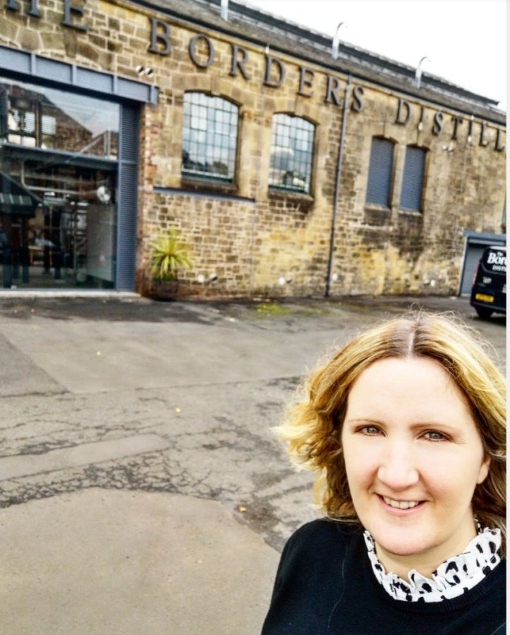 Me outside The Borders Distillery